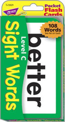 Sight Words C Pocket Flash Cards