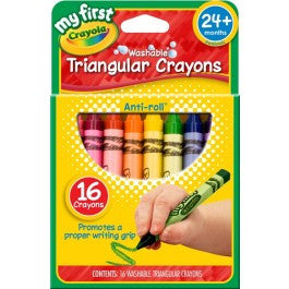 My First Crayola Washable Triangular Crayons 16ct