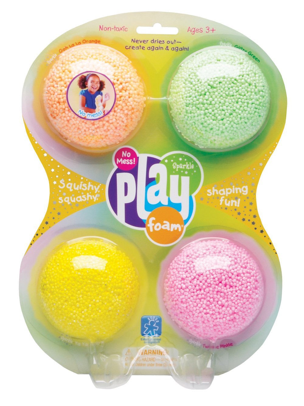 PLAYFOAM - 4's pack Sparkle