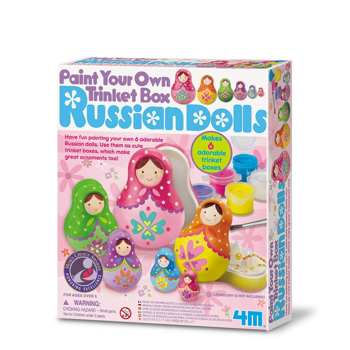 Paint Your Own Trinket Box Russian Dolls