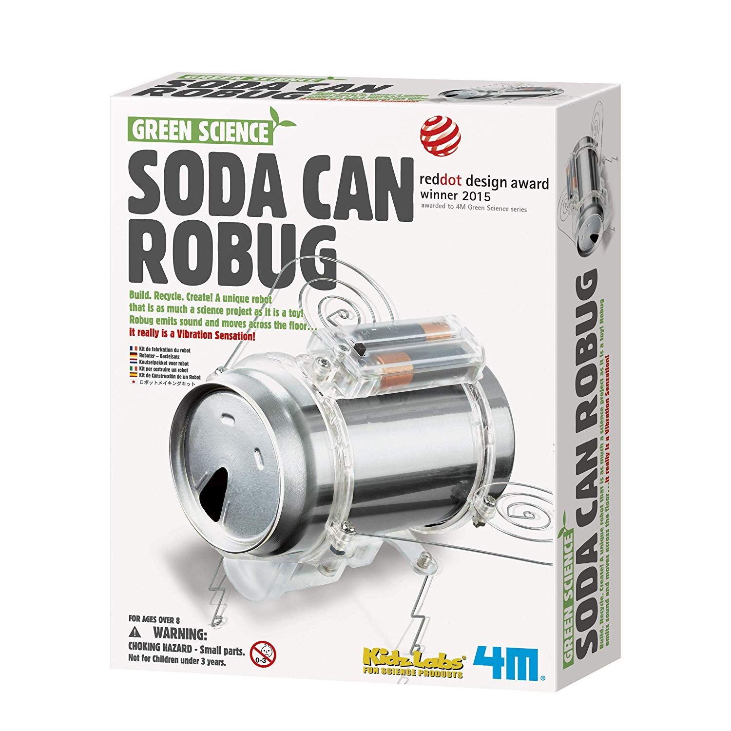 Green Science - Soda Can Robug