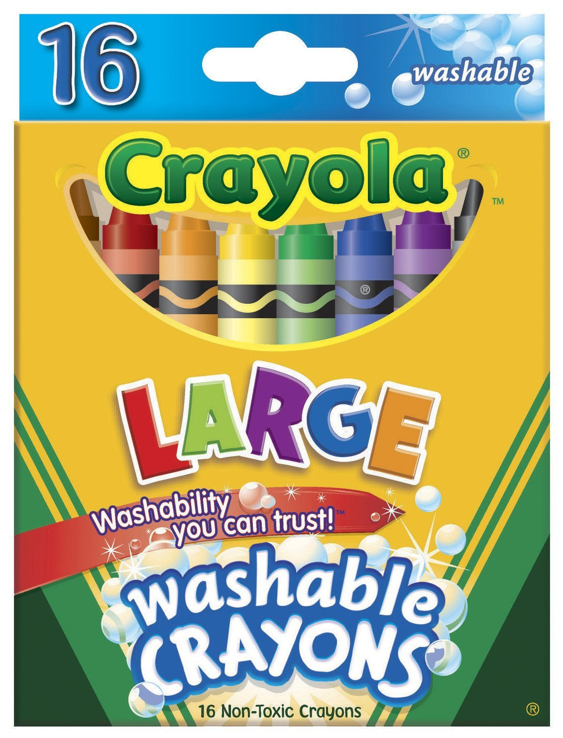 Crayola Large Washable Crayons 16-pk.