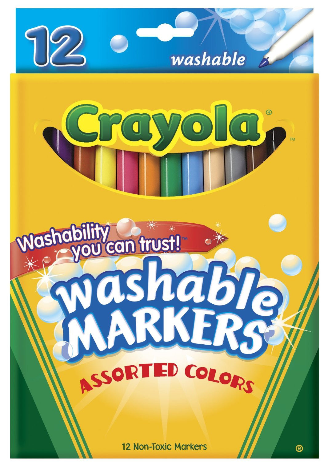 Crayola Fine Line Washable Markers 12 Count