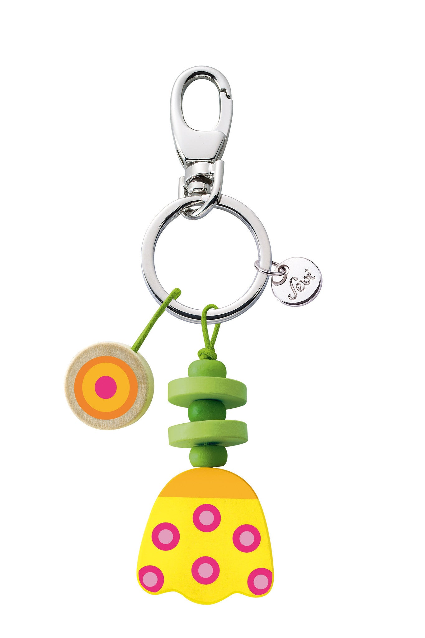 Keyring Tulip yellow