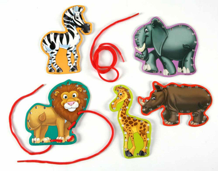 Lace and Learn - Safari Animals Manipulatives