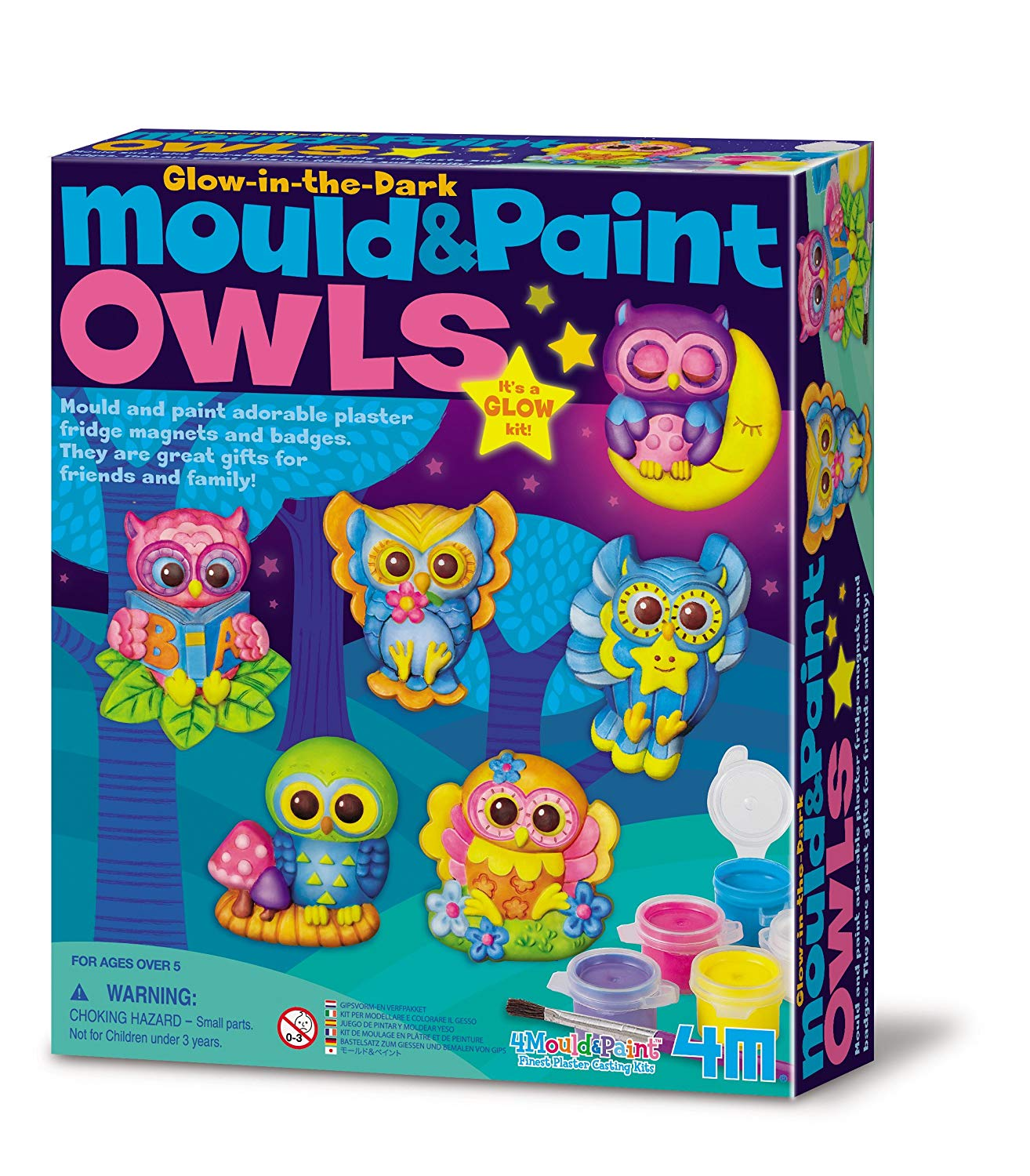 Mould & Paint - Glow Owls
