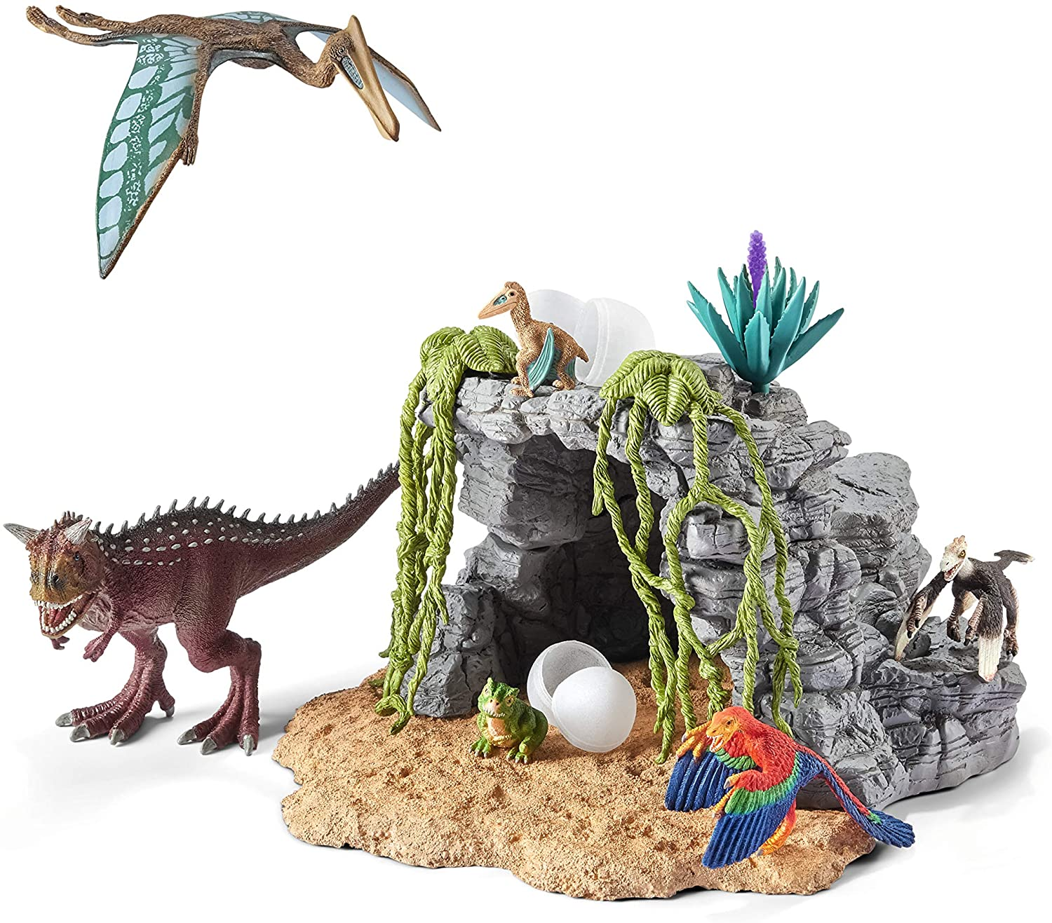 Dinosaur Set with Cave