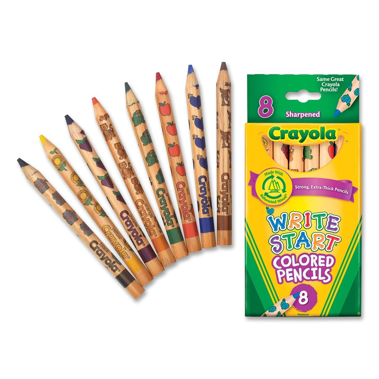 Crayola Write Start Colored Pencils 8 ct.