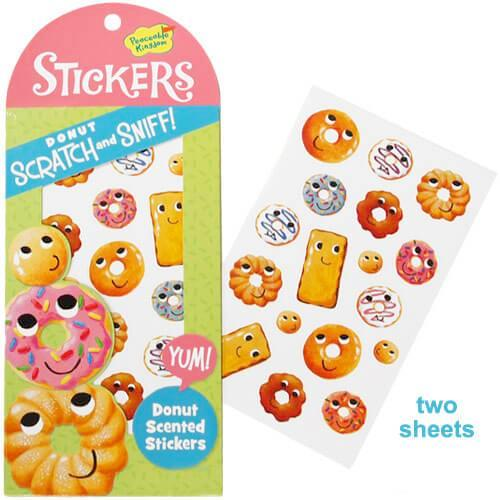 DONUT SCRATCH & SNIFF STICKERS