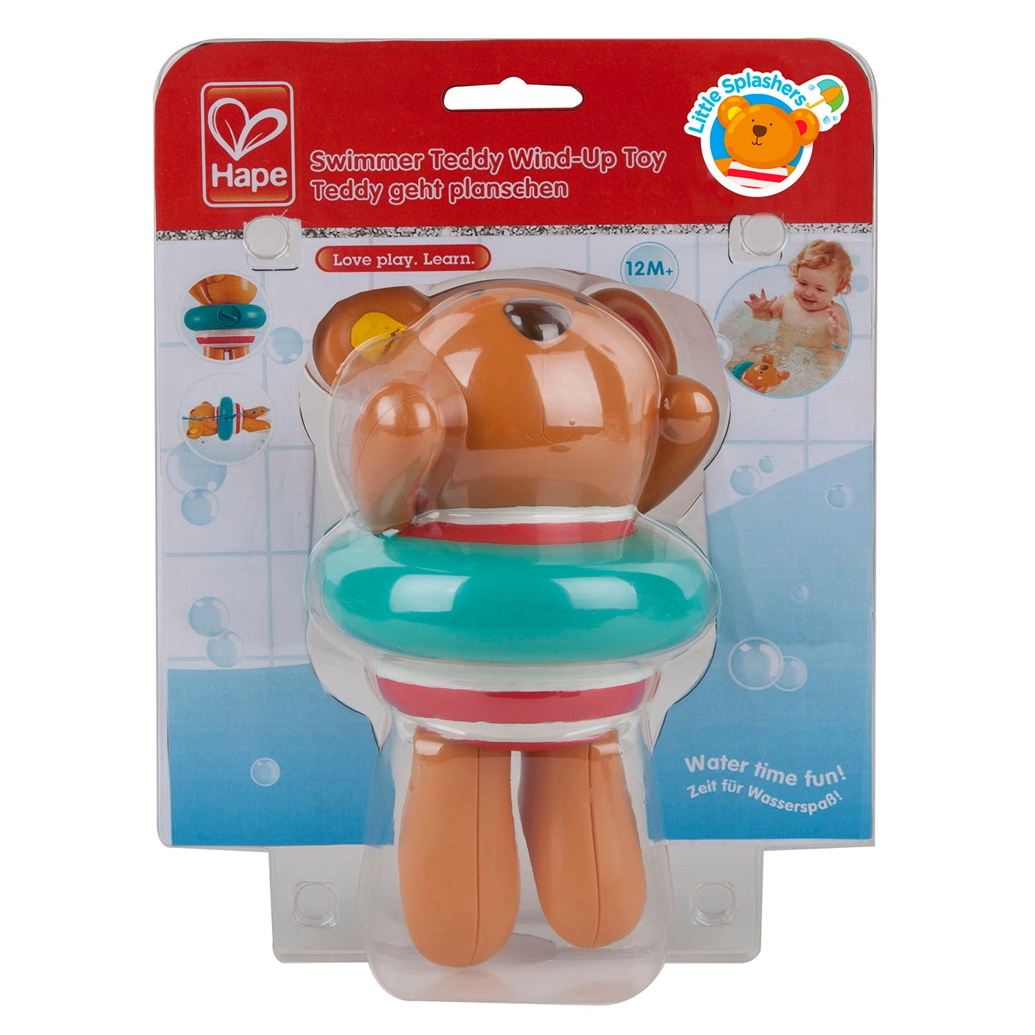Swimmer Teddy Wind Up Toy
