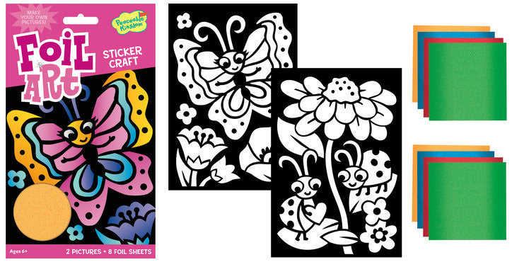 Butterfly and Ladybug Foil Art Sticker Pack