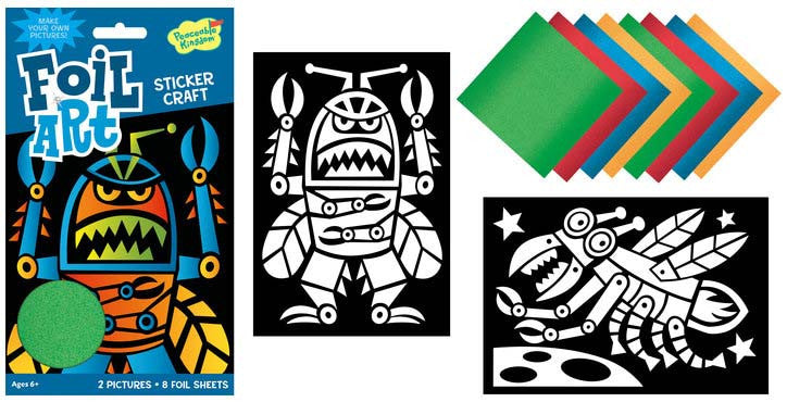 Robot Foil Art Sticker Pack