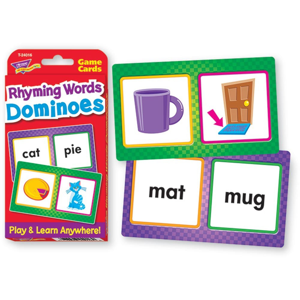 Challenge Cards Rhyming Words Dominoes