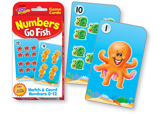 Challenge Cards Number Go Fish
