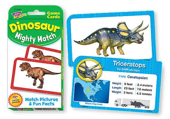 Challenge Card Dinosaur Mighty Match