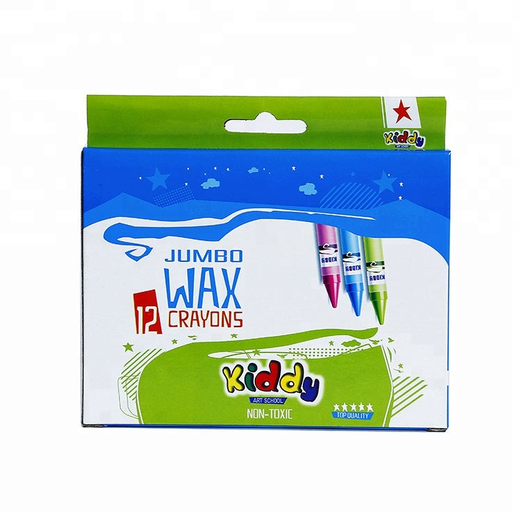 Kiddy 12 pcs Jumbo Non-toxic Wax Crayon