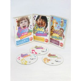 3-in-1 SING to LEARN English DVD Bundle