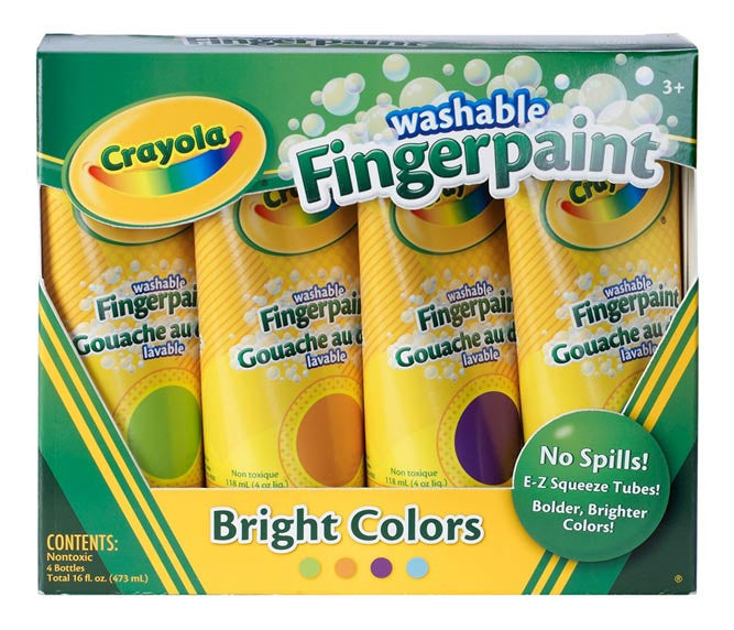 Washable Finger Paint Bright Colors