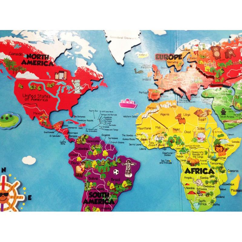 My Kids Magnet Magnetic World Map Puzzle Book