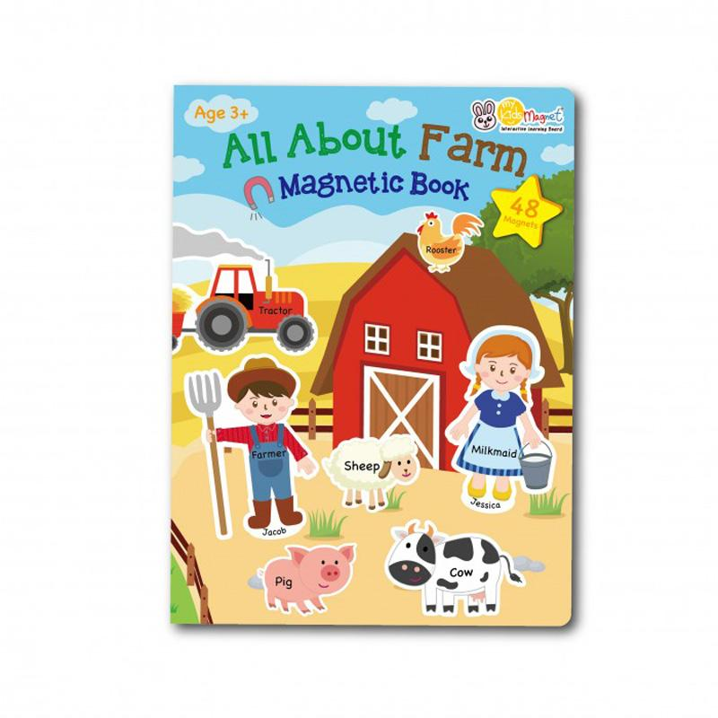 My Kids Magnet All About Farm Magnetic Book