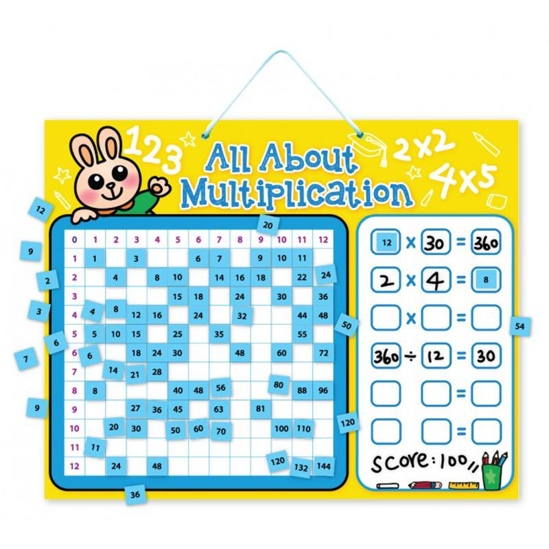 My Kids Magnet All About Multiplication Magnetic Board