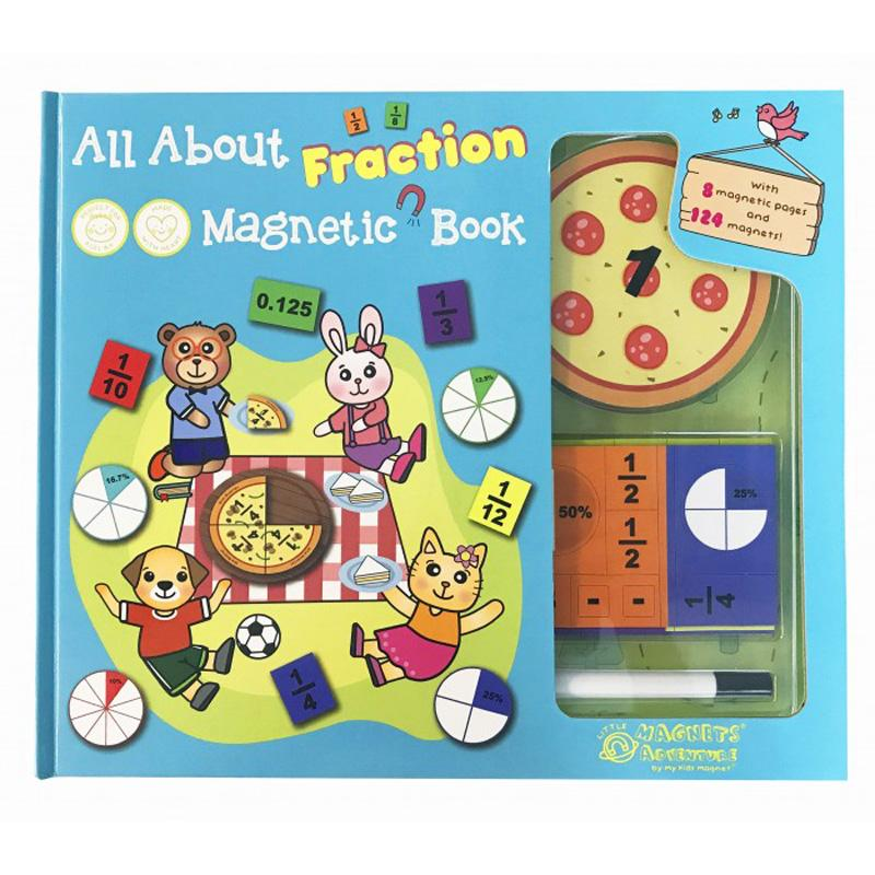 My Kids Magnet All About Fraction Magnetic Book