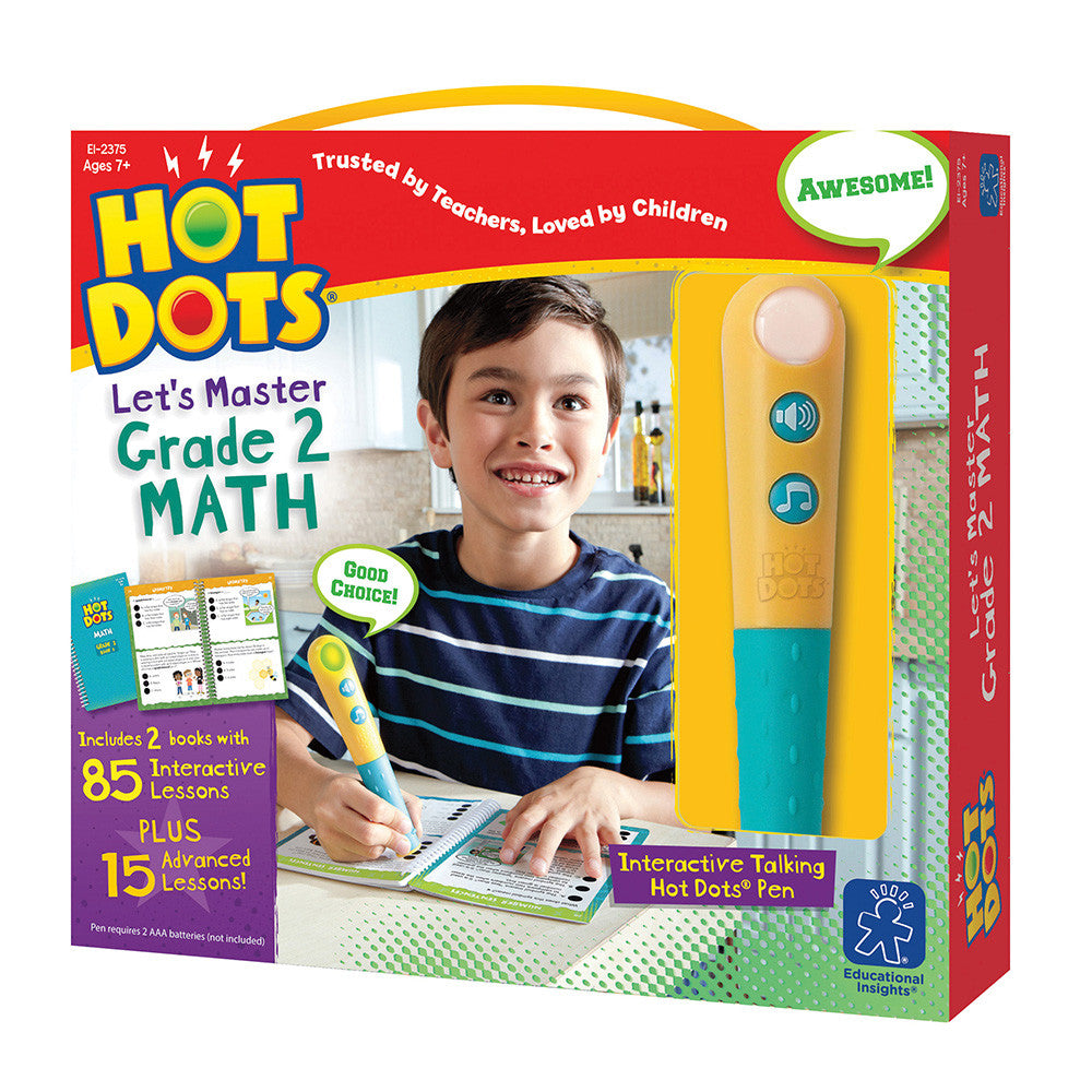 HOT DOTS® JR LET'S MASTER  GRADE 2 MATH