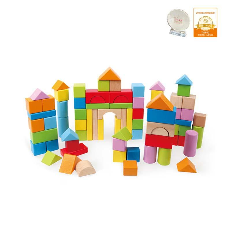 Hape Count and Spell Blocks, 80 pcs