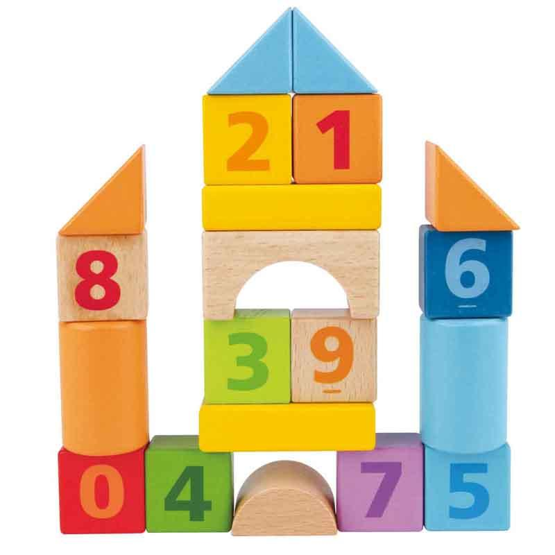 Hape Count 'n' Build Block Set, 20 pcs