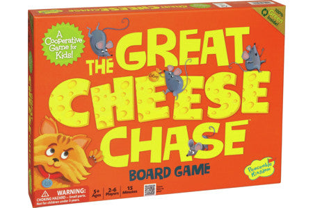 Peaceable Kingdom The Great Cheese Chase Cooperative Board Game