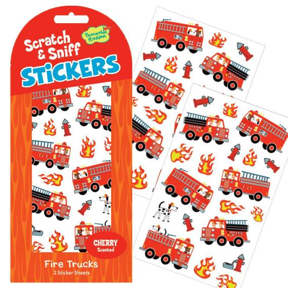 Cherry Fire Truck Scratch & Sniff Stickers
