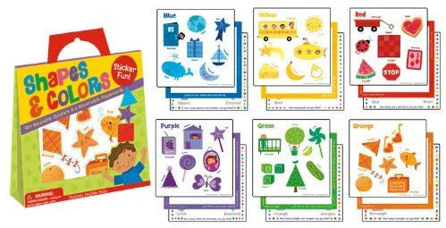 COLORS & SHAPES STICKER ACTIVITY TOTE
