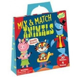MIX AND MATCH ANIMALS STICKER ACTIVITY TOTE