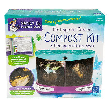 Nancy B's Science Club® Garbage to Gardens Compost Kit & Decomposition Book