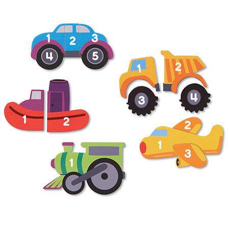 Learning Essentials™ Magnetic Counting Vehicle Puzzles