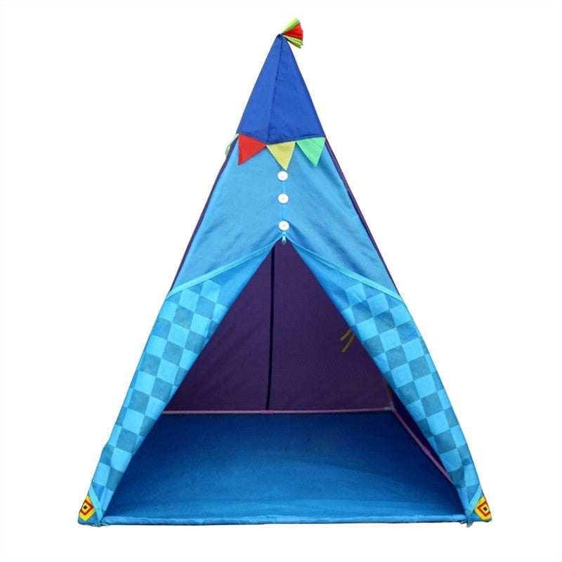 Foldable Kids Teepee Play Tents Indoor Outdoor Portable Playhouse Travel  Camping Game Tent for Children (Sky)