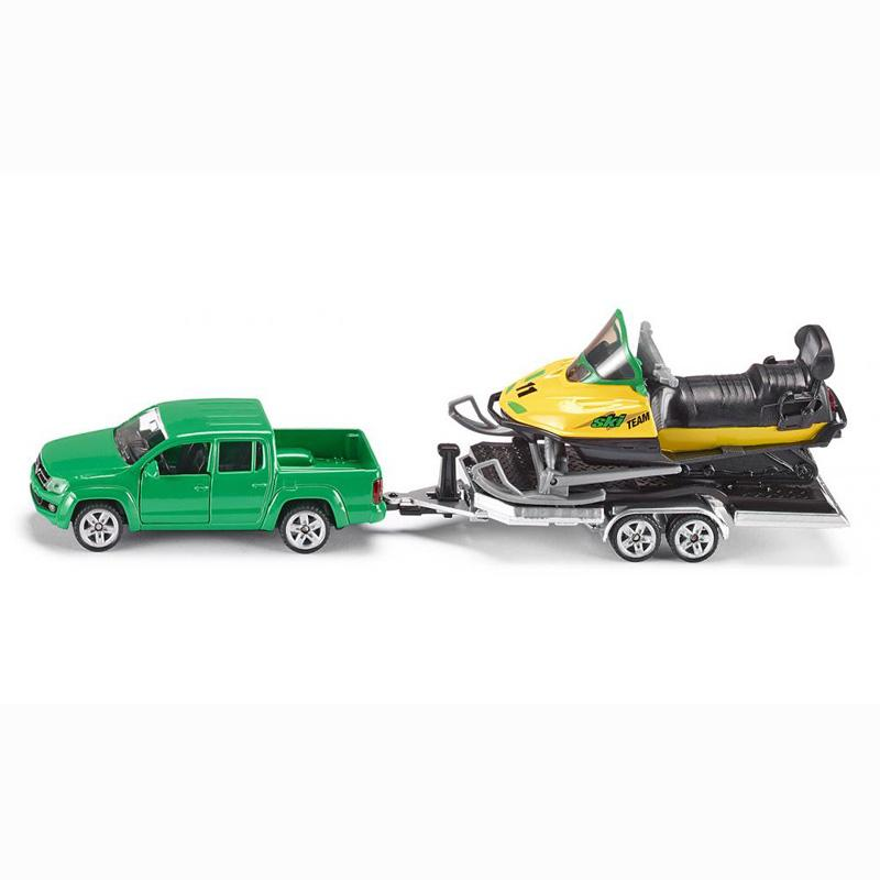 Siku Car with Trailer & Snow Mobile