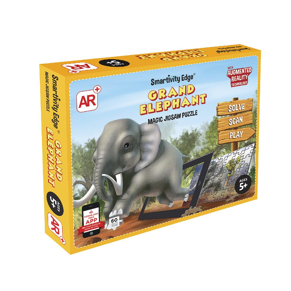 Smartivity Edge Grand Elephant Augmented Reality Jigsaw Puzzles - SMRT1083