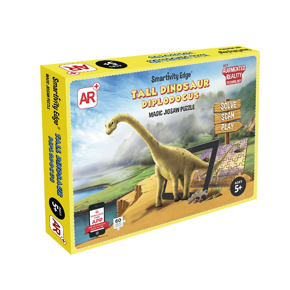 Smartivity Edge Tall Dinosaur Diplodocus Augmented Reality Jigsaw Puzzles - SMRT1092