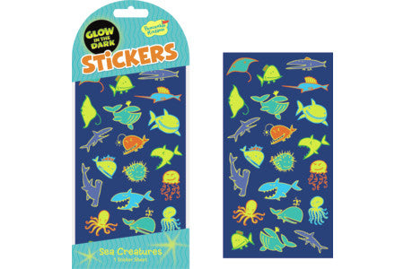 SEA CREATURES GLOW IN THE DARK STICKERS