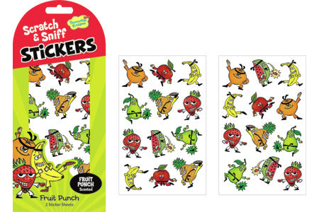 FRUIT PUNCH SCRATCH & SNIFF STICKERS