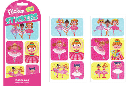 BALLERINAS LENTICULAR STICKERS