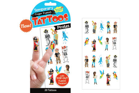 PIRATE FINGER PUPPET TEMPORARY TATTOOS