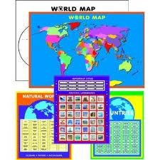 World Geography Sticker Kit