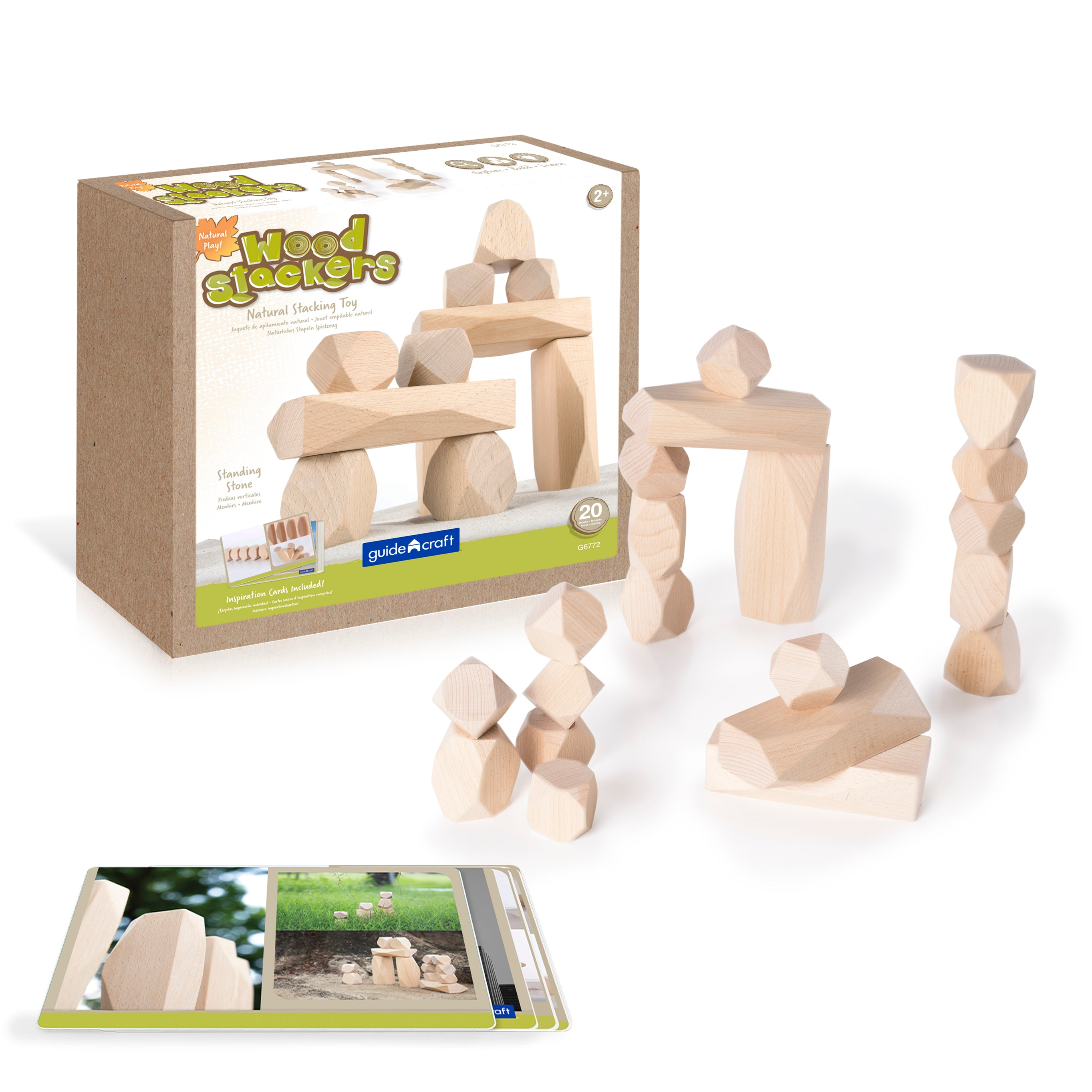 Guidecraft Wood Stackers – Standing Stones