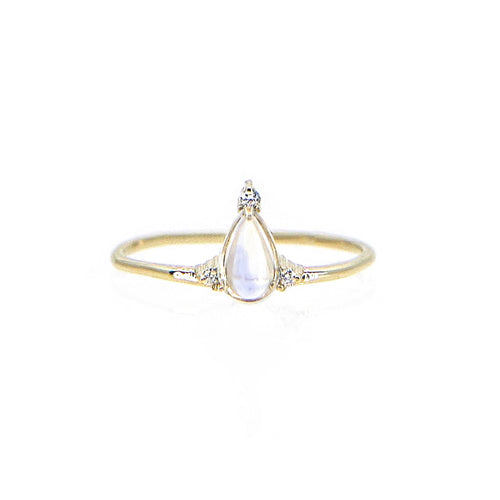 Moonstone Temple Ring