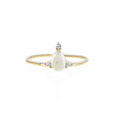 Aquamarine Rise Ring