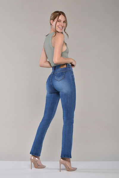 Jeans Tiro Alto Regular · 3039