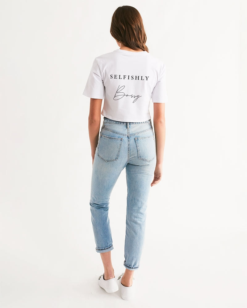SELFISHLY BOSSY  Women's Cropped Tee