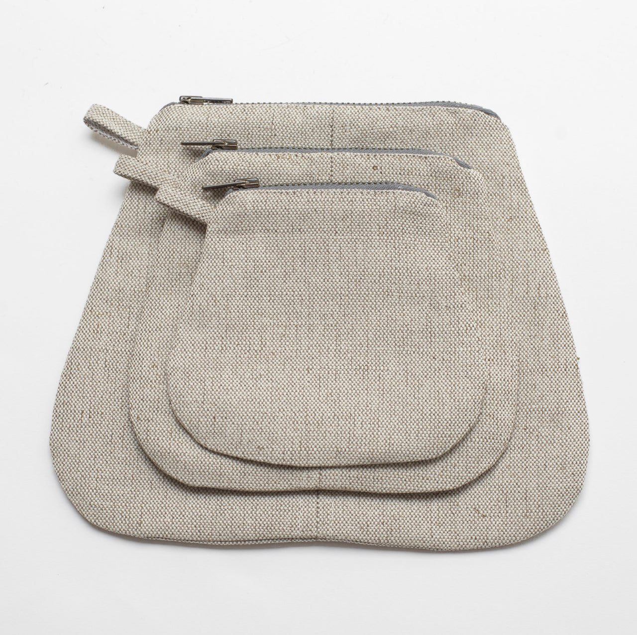 mini pouches (oatmeal linen)